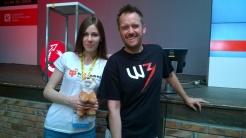 Marcin Iwiński, Co-Founder of CD Projekt withad2games' Elena Egorova