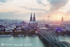 Great views on the Rhine river and the Cologne Cathedral